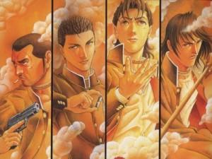 I personaggi principali: Shogo Kawada, Shinji Mimura, Shuuya Nanahara e Hiroki Sugimura.