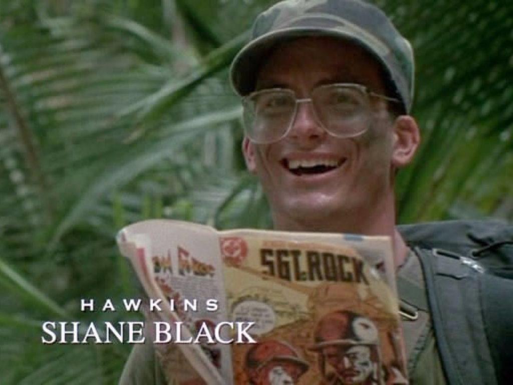 Shane fece anche l'attore nel primo Predator. Gli autori lo volevano nei paraggi per inserire qualche battuta cool sul momento.